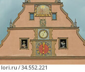 Rothenburg, meistertrunk, tilly, nusch, uhr, ratsherrnstrinkstube... Стоковое фото, фотограф Zoonar.com/Volker Rauch / easy Fotostock / Фотобанк Лори