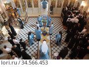 Праздничная литургия в Коломенской духовной семинарии. Редакционное фото, фотограф Дмитрий Неумоин / Фотобанк Лори