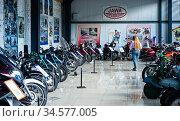 Экспозиция мотоциклов. Музей мотоциклов. Редакционное фото, фотограф Макаров Алексей / Фотобанк Лори