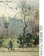 Barton Rose Maynard - Kensington Gardens - British School - 19th ... Стоковое фото, фотограф Artepics / age Fotostock / Фотобанк Лори