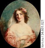 Baxter Charles - the Blonde - British School - 19th Century. Стоковое фото, фотограф Artepics / age Fotostock / Фотобанк Лори