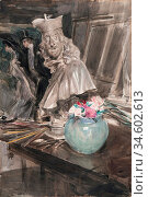 Boldini Giovanni - Corner of the Artist's Studio with a Bust of Leopoldo... Стоковое фото, фотограф Artepics / age Fotostock / Фотобанк Лори