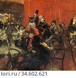 Boldini Giovanni - Feast Scene - British School - 19th Century. Стоковое фото, фотограф Artepics / age Fotostock / Фотобанк Лори