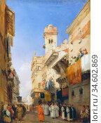 Bonington Richard Parkes - Corso Sant'anastasia Verona - British ... Стоковое фото, фотограф Artepics / age Fotostock / Фотобанк Лори