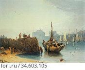 Bonington Richard Parkes - the Harbour of Le Havre - British School... Стоковое фото, фотограф Artepics / age Fotostock / Фотобанк Лори