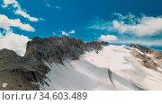 Amazing aerial view of Marmolada Glacier from drone, Dolomite Mountains... Стоковое фото, фотограф Giovanni Gagliardi / easy Fotostock / Фотобанк Лори