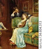 Breakspeare William Arthur - a Musical Interlude - British School... Стоковое фото, фотограф Artepics / age Fotostock / Фотобанк Лори