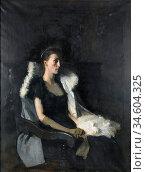 Bramley Frank - Portrait of Ethel Grace Bolitho Nee Macleod - British... Стоковое фото, фотограф Artepics / age Fotostock / Фотобанк Лори