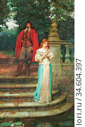 Breakspeare William Arthur - the Courtship (an Important Letter) - ... Стоковое фото, фотограф Artepics / age Fotostock / Фотобанк Лори