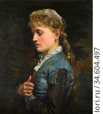 Breakspeare William Arthur - Day Dreaming - British School - 19th... Стоковое фото, фотограф Artepics / age Fotostock / Фотобанк Лори