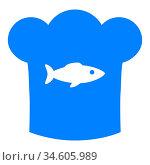 Fisch und Kochhaube - Fish and chef hat. Стоковое фото, фотограф Zoonar.com/Robert Biedermann / easy Fotostock / Фотобанк Лори