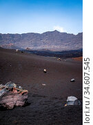 Cha das Caldeiras and Pico do Fogo in Cape Verde, Africa. Стоковое фото, фотограф Zoonar.com/Laurent Davoust / age Fotostock / Фотобанк Лори