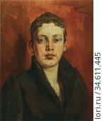 Trubner Wilhelm - Weiblicher Kopf - German School - 19th Century. Редакционное фото, фотограф Artepics / age Fotostock / Фотобанк Лори