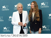 Cristina Chiriac and Abel Ferrara attend the photocall of the Jaeger... Редакционное фото, фотограф AGF/Maria Laura Antonelli / age Fotostock / Фотобанк Лори