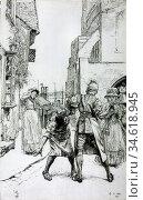 Abbey Edwin Austin - Illustration to 'sally in Our Alley' - British... Стоковое фото, фотограф Artepics / age Fotostock / Фотобанк Лори