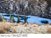 View of river in Altay mountains. Стоковое фото, фотограф Юлия Белоусова / Фотобанк Лори