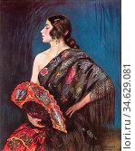 Apperley George Owen Wynne - La Maja - British School - 19th Century. Стоковое фото, фотограф Artepics / age Fotostock / Фотобанк Лори