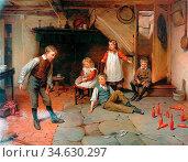 Brooker Harry - Skittles - British School - 19th Century. Стоковое фото, фотограф Artepics / age Fotostock / Фотобанк Лори