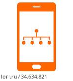 Netzwerk und Smartphone - Network and smartphone. Стоковое фото, фотограф Zoonar.com/Robert Biedermann / easy Fotostock / Фотобанк Лори