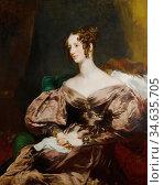 Carpenter Margaret Sarah - Portrait of Harriet Countess Howe - British... Стоковое фото, фотограф Artepics / age Fotostock / Фотобанк Лори