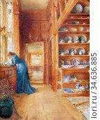 Clacy Ellen - Lady Betty Germain's China Closet - British School - ... Стоковое фото, фотограф Artepics / age Fotostock / Фотобанк Лори