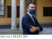 Italian Minister Luigi Di Maio at the Prefecture ,Milan, ITALY-08... Редакционное фото, фотограф Claudia Greco / AGF/Claudia Greco / AGF / age Fotostock / Фотобанк Лори