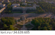 Cathedral Park in Chisinau, Moldova. Редакционное видео, видеограф Сергей Старуш / Фотобанк Лори