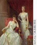 Fildes Sir Samuel Luke - Sisters (Double Portrait of the Misses Renton... Стоковое фото, фотограф Artepics / age Fotostock / Фотобанк Лори