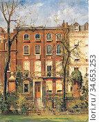 Fox William Edward - Number 15 Cheyne Walk Chelsea London - British... Стоковое фото, фотограф Artepics / age Fotostock / Фотобанк Лори