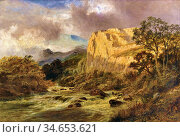 Gallon Robert - Landscape - British School - 19th Century. Стоковое фото, фотограф Artepics / age Fotostock / Фотобанк Лори