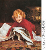 Gore William Henry - Playmates - British School - 19th Century. Стоковое фото, фотограф Artepics / age Fotostock / Фотобанк Лори