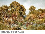 Palmer Harry Sutton - near Elstead Surrey - British School - 19th... Редакционное фото, фотограф Artepics / age Fotostock / Фотобанк Лори