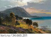 Percy Sidney Richard - Loch Linne - British School - 19th Century. (2020 год). Редакционное фото, фотограф Artepics / age Fotostock / Фотобанк Лори