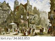 Rayner Louise - John Knox's House Edinburgh 2 - British School - ... Редакционное фото, фотограф Artepics / age Fotostock / Фотобанк Лори