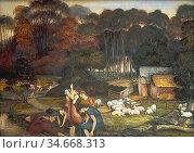 Spencer-Stanhope John Roddam - Autumn - British School - 19th Century. Редакционное фото, фотограф Artepics / age Fotostock / Фотобанк Лори