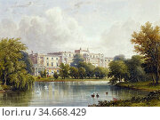 Stanley Caleb Robert - Buckingham Palace - Garden Front from Across... Редакционное фото, фотограф Artepics / age Fotostock / Фотобанк Лори