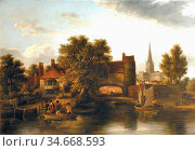 Stark James - Sandling's Ferry - British School - 19th Century. Редакционное фото, фотограф Artepics / age Fotostock / Фотобанк Лори