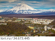 The city of Petropavlovsk-Kamchatsky in the fall (2015 год). Редакционное фото, фотограф Вита Фортуна / Фотобанк Лори