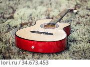 Musical instruments. Guitar. Редакционное фото, фотограф Вита Фортуна / Фотобанк Лори
