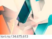 Abstract colorful low poly cgi background, digital 3d. Стоковая иллюстрация, иллюстратор EugeneSergeev / Фотобанк Лори