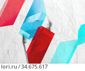 Abstract colorful low polygonal background pattern. Стоковая иллюстрация, иллюстратор EugeneSergeev / Фотобанк Лори