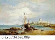 Taylor Henry King - View of St. Aubin's Fort St. Aubin's Bay Jersey... Стоковое фото, фотограф Artepics / age Fotostock / Фотобанк Лори