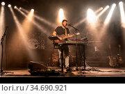 Der schweizer Musiker Pascal Lehmann alias NacNecc live in der Schüür... Стоковое фото, фотограф Zoonar.com/Oliver Gutfleisch / age Fotostock / Фотобанк Лори