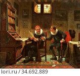 Webb Charles Meer - at the Advocat - British School - 19th Century. Редакционное фото, фотограф Artepics / age Fotostock / Фотобанк Лори