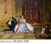 Yeames William Frederick - Queen Elizabeth and the Earl of Leicester... Редакционное фото, фотограф Artepics / age Fotostock / Фотобанк Лори