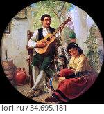 Haynes-Williams John - Spanish Musicians - British School - 19th ... Редакционное фото, фотограф Artepics / age Fotostock / Фотобанк Лори