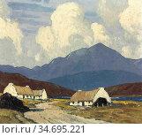 Henry Paul - Roadside Cottages Below Mweelrea Mountain - British ... Редакционное фото, фотограф Artepics / age Fotostock / Фотобанк Лори