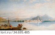 Hering George Edwards - Lake Maggiore - British School - 19th Century. Редакционное фото, фотограф Artepics / age Fotostock / Фотобанк Лори