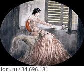 Icart Louis - Madame Bovary - French School - 19th Century. Редакционное фото, фотограф Artepics / age Fotostock / Фотобанк Лори