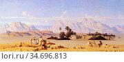 Guillaumet Gustave Achille - the Oasis - French School - 19th Century. Редакционное фото, фотограф Artepics / age Fotostock / Фотобанк Лори